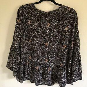 Madewell bell sleeve blouse